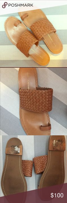 Gorgeous Brown Leather DVF Sandals Beautiful brown leather DVF sandals. Size 8.5. Worn a handful of times. Very little wear. Get a jump start on your summer wardrobe with these gorgeous woven leather sandals. Diane Von Furstenberg Shoes Sandals