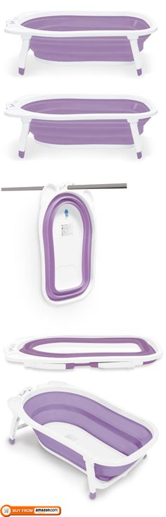 Planning on replacing the tub in our house with a walk-in shower. No tub for future baby means one of these will someday be needed. Brilliant. Karibu Baby Folding Bath, Purple/White, Karibu Folding Bath is designed to store away easily to save space at home and for travel. $39.99
