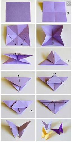 tutorial origami kupu kupu