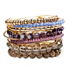 Gorgeous stacked Alex and Ani bangles