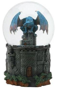 Dragon Castle Water Glitter Snow Globe