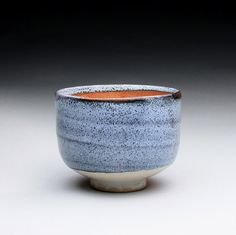 yunomi  teacup with wood ash and orange shino by rmoralespottery, $40.00