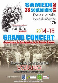 C'est l'Ensemble Instrumental Votano qui ouvrira les commémorations organisées par l'ASBL Centenaire en Val de Sambre. La réputation de cet orchestre d'harmonie n'est plus à faire,