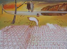 """Trabalho inspirado em """" Desintegração da Persistência da Memória"""" de Dalí (5ª etapa) (4/1/17) (*)"""