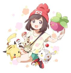Pikachu, Mimikyu, Togedemaru, and Bounsweet