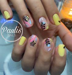 Simple Acrylic Nails, Best Acrylic Nails, Wow Nails, Pretty Nails, Spring Nail Colors, Spring Nails, Bella Nails, Nail Drawing, Basic Nails