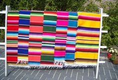 Large Authentic handwoven Mexican decoration Serape Blankets variety of colors. Directly From México! Ordered the orange one! Mexican Bedroom Decor, Types Of Weaving, Home Furnishings, Hand Weaving, Outdoor Blanket, Mexican Decorations, Mexican Blankets, Loom, Mexican Stuff