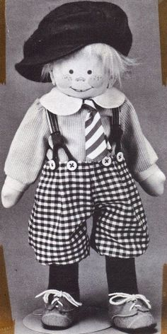 """15"""" Boy cloth rag doll named Franklin sewing Pattern by Rainie Crawford   eBay"""