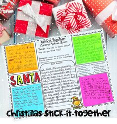 Christmas Stick-It-Together - my students LOVE this collaborative writing activity with Christmas-themed writing prompts.