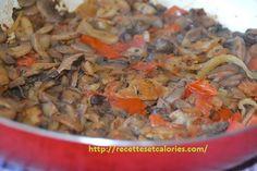 Bientôt l'automne, les champignons poussent dans les prés et dans les bois, Cueillez-en quelques-un pour réaliser cette recette de champignons au piment... Calories, Vegetables, Easy Cooking, Light Recipes, Food Recipes, Sauteed Mushrooms, Mushroom Recipe, Vegetable Dish, Veggie Food