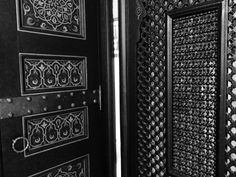 Stunningly intricate carved wood doors and screens