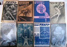 1928 LOT OF 8 RUSSIAN EARY SOVIET THEATER MAGAZINE AVANT-GARDE COVERS | eBay