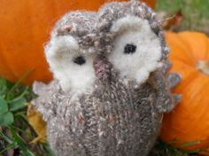 This owl chick is the latest little wooly animal in my Etsy shop: WeeThingsFiberArts