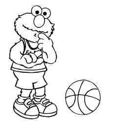 m and m coloring pages child coloring designs sesame street elmo playing basketball