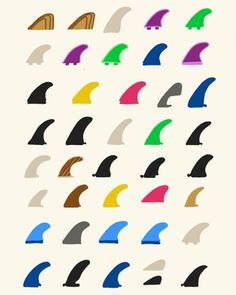 All these surfboard fins i have found i would consider one on my design, but i have chosen this picture because there are a lot to choose out of.