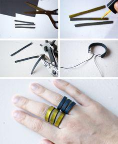 Leather Ring DIY  by: www.lanaredstudio.com