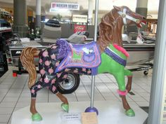 MARE-Y THE MALL TROTTER _One of Meridian's Painted Carousel Horses. This Project, Around Town Carousels, to benefit Hope Village | Yelp