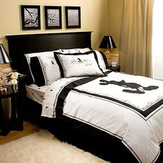 Vintage Black and White Mickey Mouse Sheet Set