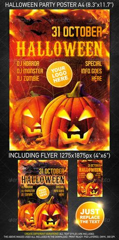 Halloween Party Template for a mainstream music event or any other night club event.  You can download this poster PSD at the following link – http://graphicriver.net/item/halloween-party-template/522788?ref=4ustudio    More flyers and posters here: http://graphicriver.net/user/4ustudio?ref=4ustudio