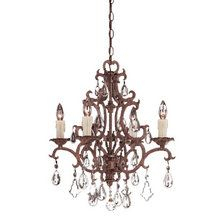 View the Savoy House 1-1400-4 Wrought Iron Four Light Up Lighting Chandelier from the Forged Iron Collection at LightingDirect.com.