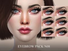 Pralinesims' eyebrow pack sims 4 tsr, my sims, sims 4 cc eyes Sims 4 Body Mods, Los Sims 4 Mods, Sims 4 Game Mods, Sims 4 Mods Clothes, Sims 4 Clothing, Sims 4 Tsr, Sims Cc, The Sims 4 Pack, The Sims 4 Skin