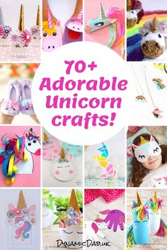 Adorable and easy unicorn crafts and ideas for all ages including toddlers to teens and adults! Even seasonal unicorn crafts are included - Christmas, Easter Halloween. Unicorn Egg, Unicorn Pumpkin, Unicorn Wall Art, Unicorn Kids, Unicorn Halloween, Unicorn Crafts, Unicorn Jewelry, Unicorn Headband, Unicorn Birthday Parties