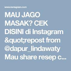 "MAU JAGO MASAK? CEK DISINI di Instagram ""repost from @dapur_lindawaty Mau share resep chiffon pandan , ini percobaan kesekian ya...jadi nyobain juga beberapa resep ga cuma 1…"""