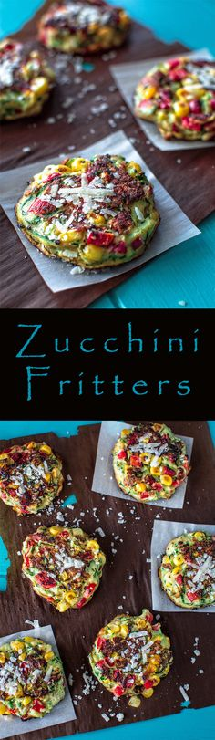 Cook breakfast or lunch in just under 25 minutes. These zucchini fritters are made with corn, bell pepper, eggs and some love.