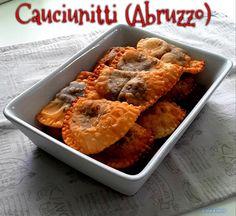 CAUCIUNITTI FRITTI (ABRUZZO) #cauciunitti #fritto #abruzzo #natale #ceci #cacao