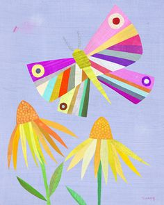Rainbow Butterfly Print by twoems on Etsy, $26.00
