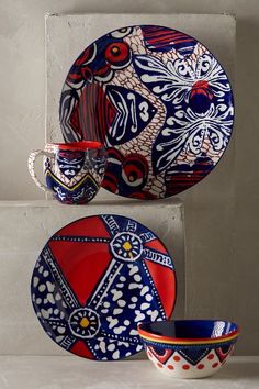 Habari Dinnerware - anthropologie.com. A little wild for my table top.. but you might like them. Very color-full.