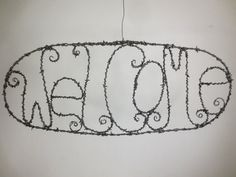 Perfectly Prickly Barbed Wire Welcome Sign Made To Order on Etsy, $78.00