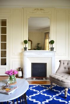 luxe #apartment living | Will & Rebekah's Traditional with a Twist in Paris House Tour | Apartment Therapy
