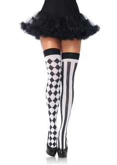 Leg Avenue Women's Harlequin Thigh Highs, Black/White, One Size Leg Avenue,http://www.amazon.com/dp/B006ZVYYFK/ref=cm_sw_r_pi_dp_PeHntb1PWBE218XQ