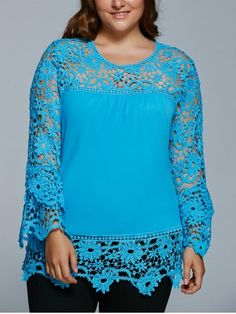 GET $50 NOW | Lace Spliced Hollow Out Plus Size BlouseFor Fashion Lovers only:80,000+ Items • New Arrivals Daily • FREE SHIPPING Affordable Casual to Chic for Every Occasion Join RoseGal: Get YOUR $50 NOW!http://www.rosegal.com/plus-size-tops/lace-spliced-hollow-out-plus-729159.html?seid=6894091rg729159