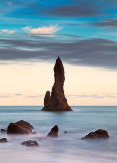Dyrholaey Fingers - a natural rock formation located near Vik in Iceland.