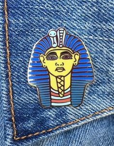 King Tut Pin, Egypt, Soft Enamel Pin, Egyptian Icon, Lapel Pin, Jewelry, Gift, Art (PIN27)