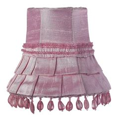 heavenly-lights.com - Pink Skirt Dangle Chandelier Shade, $33.00 (http://www.heavenly-lights.com/Pink-Skirt-Dangle)