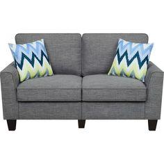 Azure Grey Loveseat Sofa