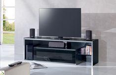 Mobile porta tv moderno con ponte in vetro | Soggiorni | Pinterest | TVs