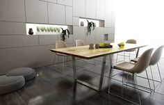 Esstisch Venke aus Massivholz mit Kufengestell und Baumkante   Bei COMNATA konfigurieren & bestellen