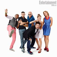 Dule Hill, Timothy Omundson, creator/writer Steve Franks, James Roday, Corbin Bernsen, Maggie Lawson, and Kirsten Nelson, Psych (Comic-Con 2013)