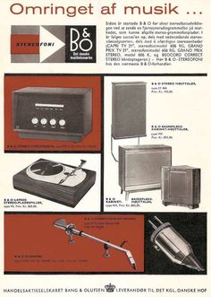 Amplifier Type 911 H58 and more. BEO advert 1958
