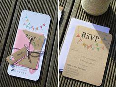 Hochzeit Einladung / Pastell Hochzeit Einladung / von adrimdesign