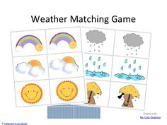 A Moment in Our World: Weather Game Matching Cards - Friday Freebie