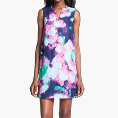 Nwot Kate Spade Abstract Floral Shift Dress