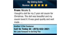 I bought a doll for my 2 year old cousin for Christmas. The doll was beautiful and my...