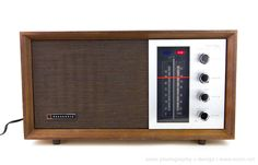 VINTAGE 1968 NATIONAL PANASONIC RE-7257 AM/FM TRANSISTOR RADIO WOOD CABINET MINT #PANASONIC