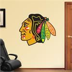 """NHL Chicago Blackhawks Logo Fathead Wall Graphics Dimensions: 3'7""""W x 3'1""""H Officially licensed  Transform your man cave, family room, bedroom, office, or dorm room with Fathead wall graphics!"""