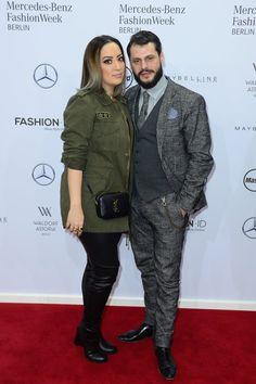 Pin for Later: Die Stars besiedeln Berlin bei der Fashion Week Miyabi Kawai and Manuel Cortez bei der Modenschau von Riani